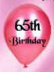 Birthday - 65th balloons